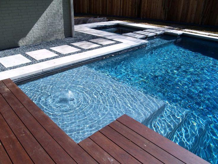 Gravel Ipe Deck And Limestone Coping Backyard Ideas