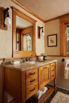 St. Croix River Cabin - craftsman - bathroom - minneapolis - David Heide Design Studio