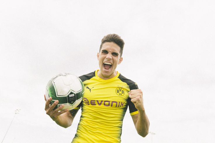 Puma Borussia Dortmund Bartra Approved UCL Soccer Jersey (Home 17/18): http://www.soccerevolution.com/store/products/PUM_40291_A.php