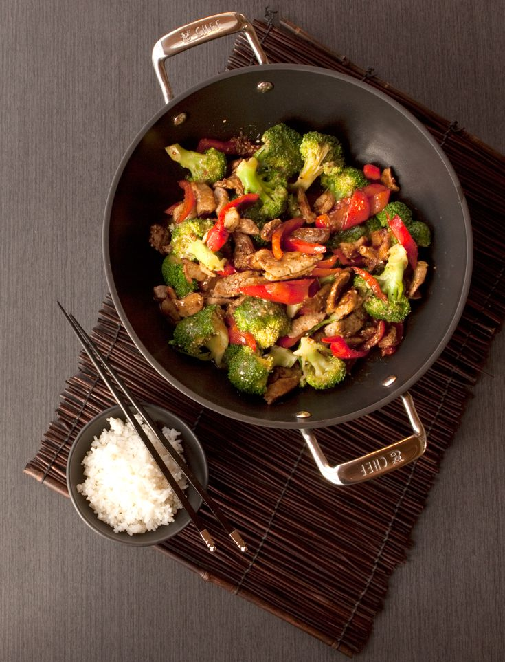 Eclipse® Coated Wok & Glass Lid
