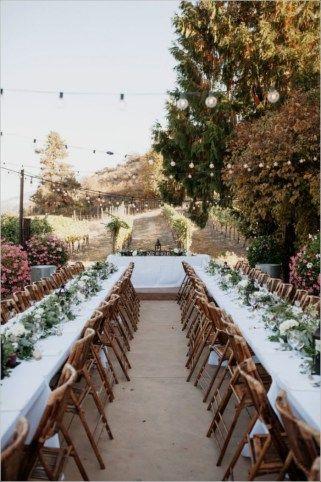 Adorable Wedding Dinner Table Idea 26