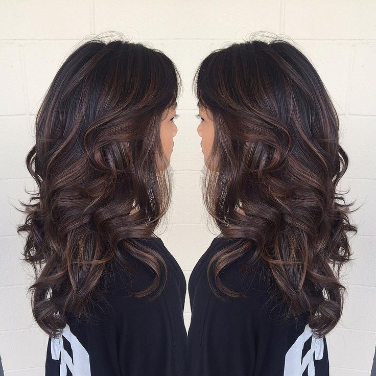 Ash brown balayage highlights courtesy of @keannehair in O'ahu, Hawaii