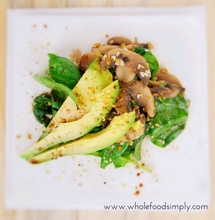 Mushroom Winter Salad.  Simple, quick and delicious!  Free from gluten, grains, dairy eggs and refined sugar.  Enjoy!
