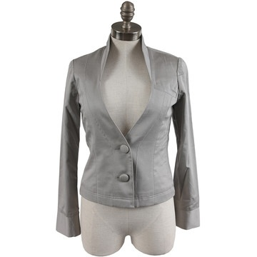 Mid Mock Side Trim Blazer Silver now featured on Fab.