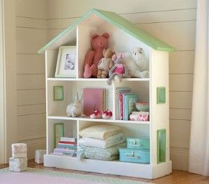 Very cute bookcase for a little girls room for the kids pinterest dollhouse bookcase - Adorable dollhouse bookshelves kids to decorate the room ...
