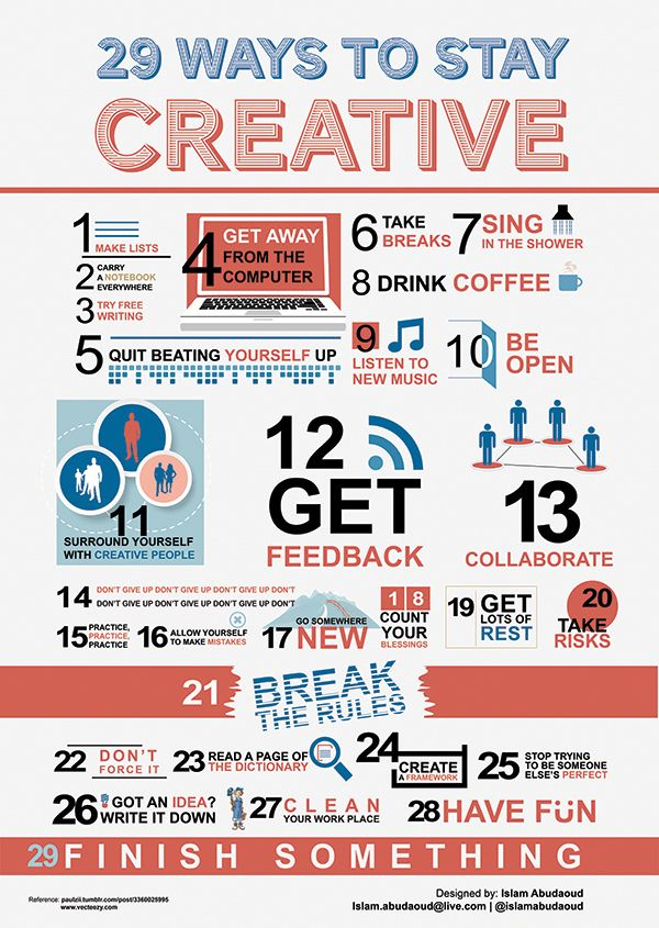 29 Ways to Stay Creative by Islam Abudaoud