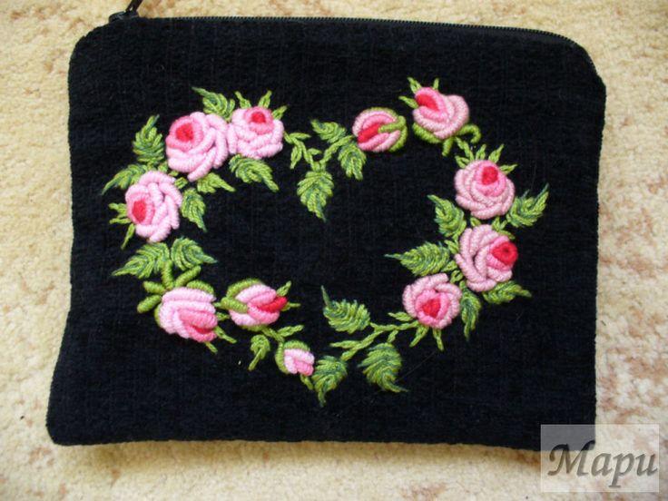 bullion roses heart wreath Gallery.ru / Фото #1 - Начало - Mari-vrn