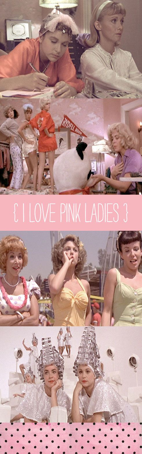 I love pink ladies from movie (play) Grease