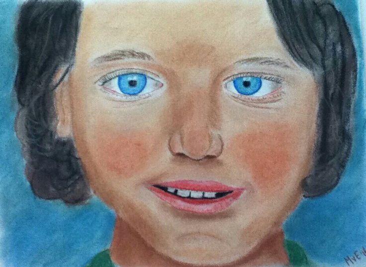 Ana ( 7 ), Moldavië, moet voor zichzelf zorgen... www.orhei.nl  Eerste portret in softpastel!