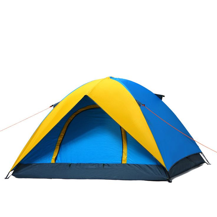 3-4 person Windproof Waterproof Anti UV Double Layer Tent Ultralight Outdoor Hiking Camping Tent Picnic tent with Carrying Bag