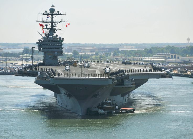 Floating City Aircraft Carrier USS Gerald Ford Aircraft Carrier - Us aircraft carriers deployment map