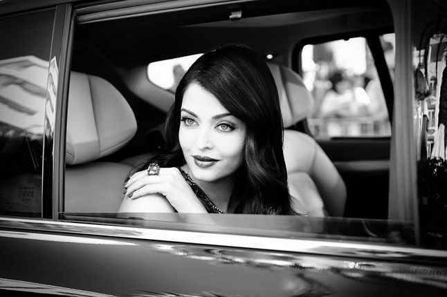 May 17 Actress Aishwarya Rai looks out of her car as she arrives at the Cannes Film Festival.