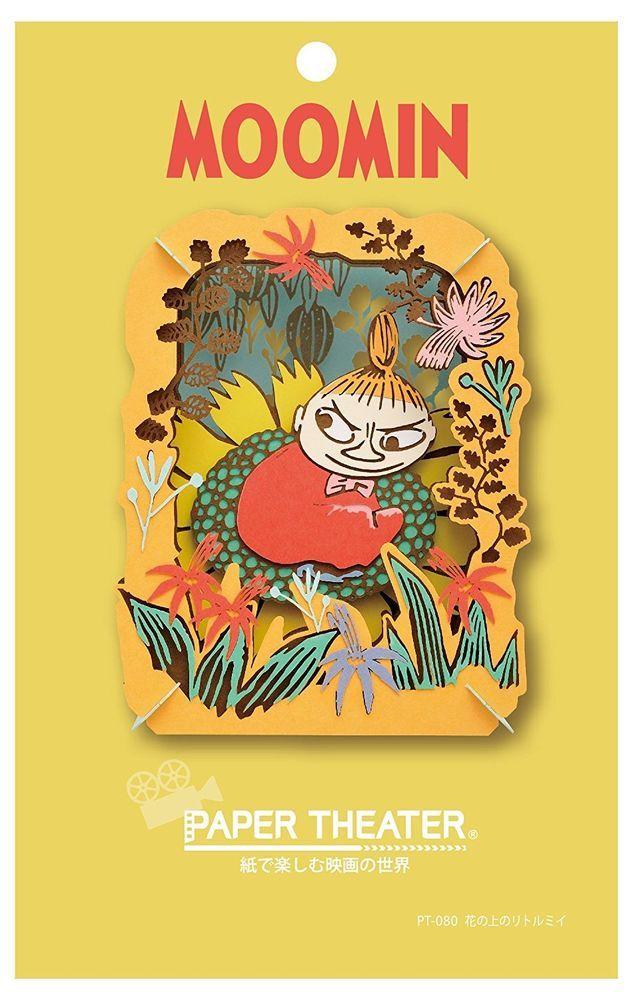Ensky MOOMIN Moomintroll Paper Theater Little My Flower Craft Kit Japan F/S #Ensky