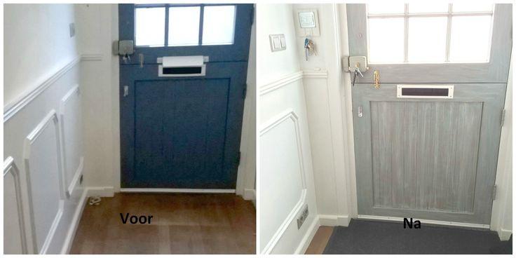 Een hele knappe transformatie gedaan door Sandra. Wie wil deze voordeur niet.