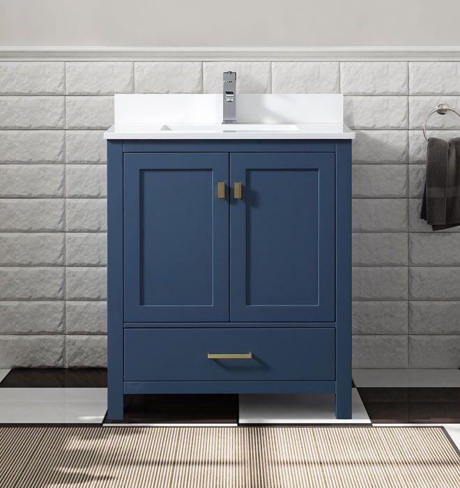 30 Elle Remybath Premium Collection Moody Blue Bathroom Vanity