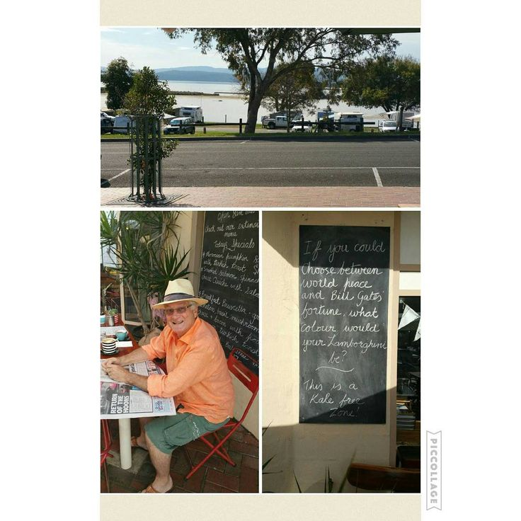 Great coffee and sweet treats at Croajingolong Cafe in Mallacoota. Open for fabulous breakfasts and lunches too. Topped off with that lovely view across the lake plus staff with a sense of humour.