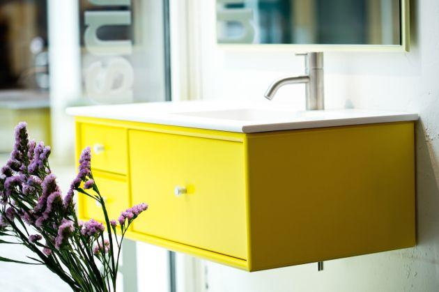 Montana Bathroom in Tokyo Yellow, Montana by Kiil, Norway