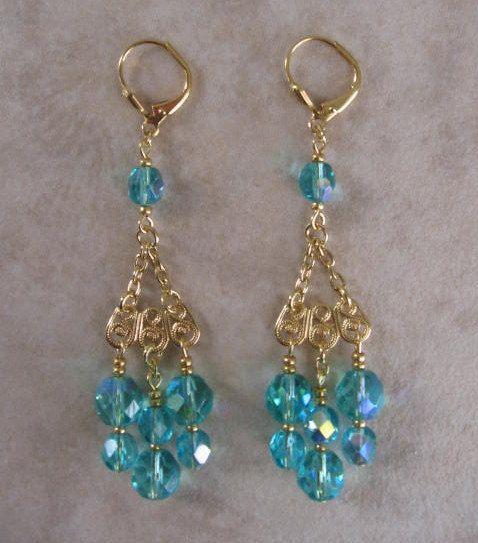 17 Best images about chandelier earring – Aqua Chandelier Earrings