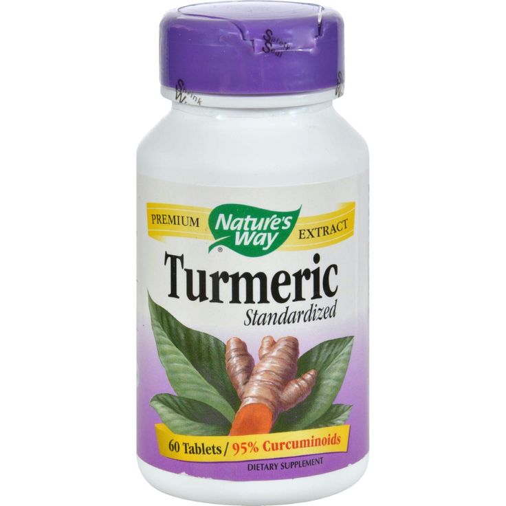 Natures Way Turmeric Standardized - 60 Tablets