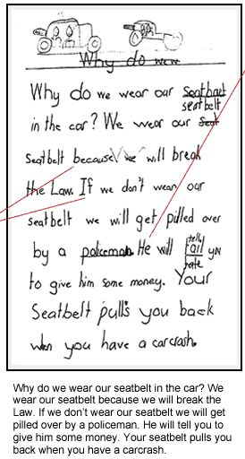 English exemplar of student work: Why Do We Wear Our Seatbelt?