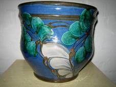 DANICO urtepotteskjuler/flowerpot H: 26 cm D: 28 cm. År/year 1919-29. Sign: DANICO 418.  #Danico #flowerpot #Danish #ceramics #urtepotteskjuler #dansk #keramik from www.Klitgaarden.net