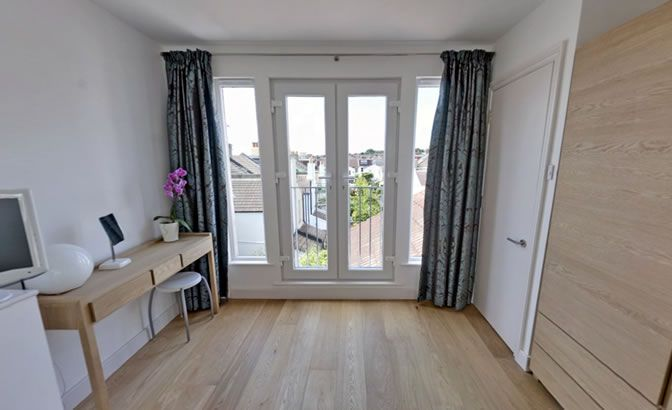 I want french doors rather than windows loft conversion for Rear french doors