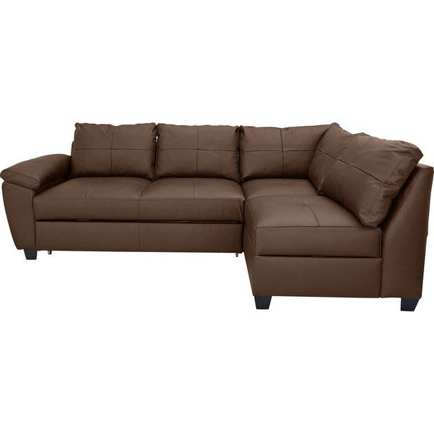 Buy Collection Fernando 2 Seater Right Corner Sofa Bed - Choc at Argos.co.uk - Your Online Shop for Sofa beds, chairbeds and futons, Living room furniture, Home and garden.
