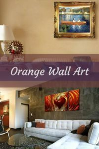 Orange is a bold playful color which is why orange wall art can add life, fun and depth to a home.  Orange is an energetic colorful therefore your home with have an energetic vibe with orange wall decor   orange wall art - orange home wall art decor