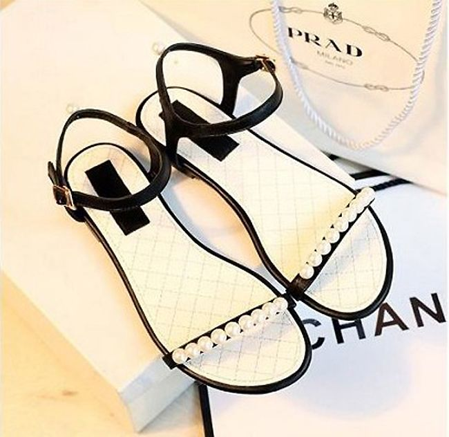 Summer Shoes Woman Sandals 2014 New Arrival Fashion Beaded Female Solid Color Sandals For Women Flat Sandals Women Flats Sandal
