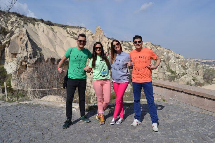 Amigos + Camisetas chulas + Turquía = Máxima felicidad!