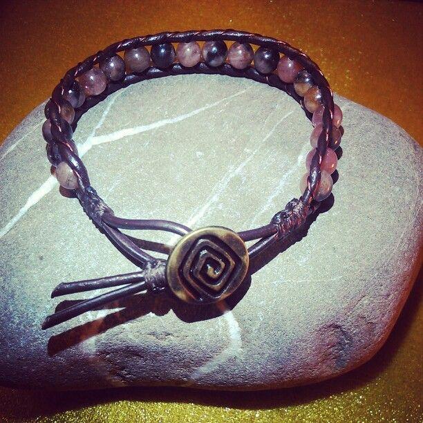 SemiPrecious Bracelet- CHIASTOLITE