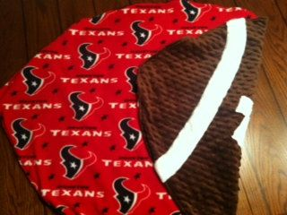 Reserved Listing for Kelly Mayfield - Houston Texans Football Baby Blanket - Minky Fleece
