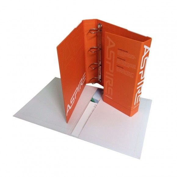 Custom Printed Enclosed Ring Binder Folder - produced by Duncan Packaging