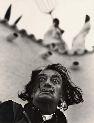 Salvador Dali (1904-1989), b. Spain // photograph by Philippe Halsman (1906-1979), b. Riga [Latvia], Russian Empire.