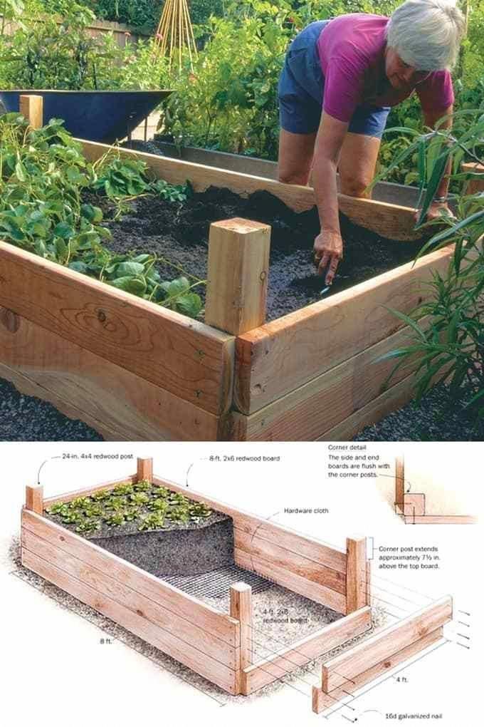 Hochbeet Mit 4 4 Pfosten With Images Building A Raised Garden Vegetable Garden Beds Home Vegetable Garden