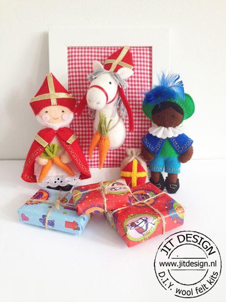 DIY wool felt kits Sinterklaas Jit Design.