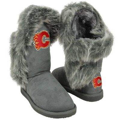 Cuce Shoes Calgary Flames Ladies Fanatic II Boots - Gray