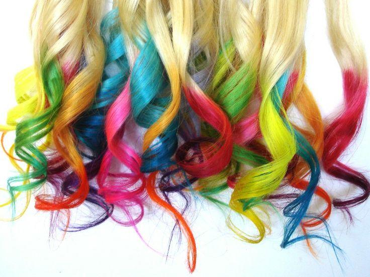 Rainbow Hair Dye Tips