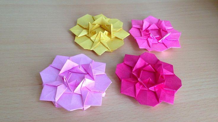 折り紙の花 ダリア 折り方(niceno1)Origami flower dahlia