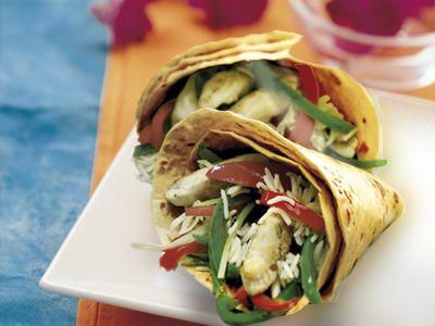 Stir Fry + Wrap = Delicious! Click to get the recipe!