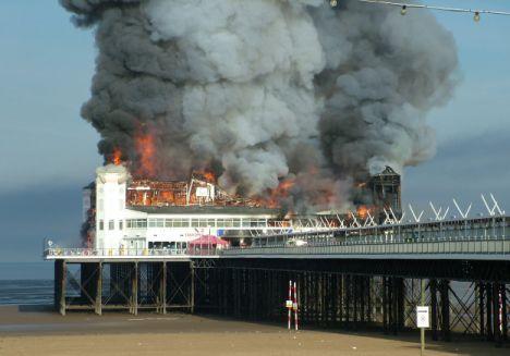 Fire destroys Weston super Mare Grand Pier- this was such a sad sad day.