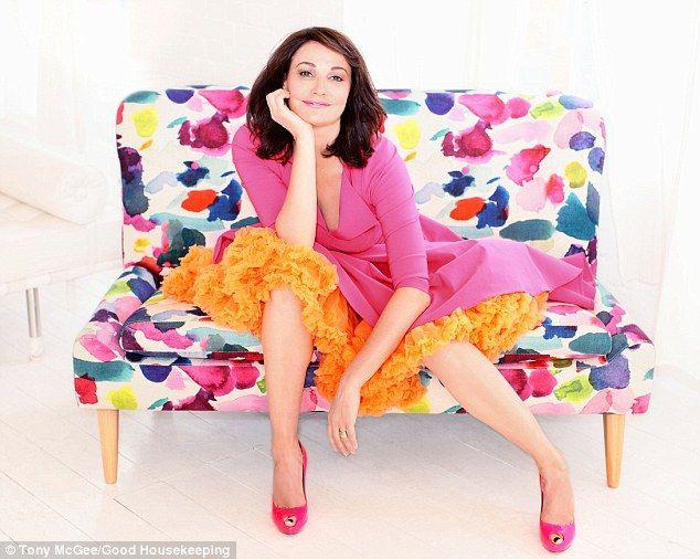 Pink and Orange    Sarah Parish   Photography by Tony McGee:   Make-up by Ruby Hammer:   Hair by Dino Pereira:   Stylist: Cheryl Konteh