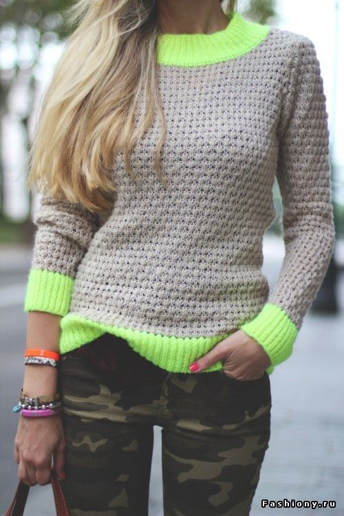 Теплый свитерок на сезон осень-зима 2012-2013 / мужские свитеры крупной вязки