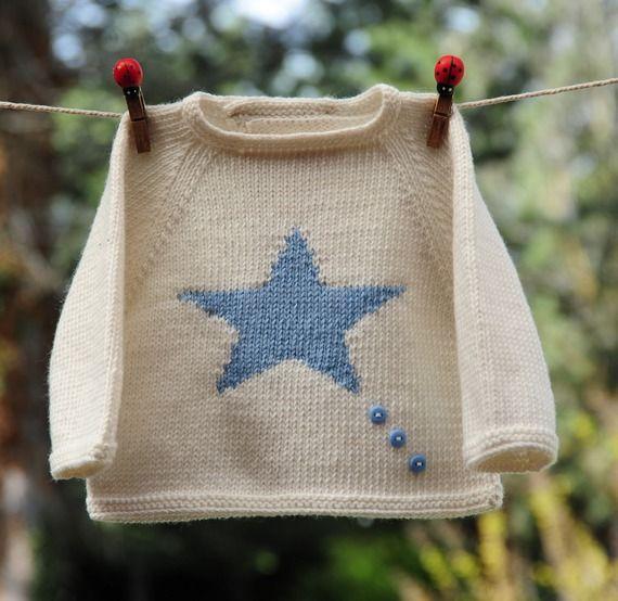 Layette ensemble bleu 1 mois brassière et bloomer neuf tricoté main