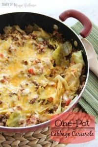 One-Pot Cabbage Casserole - Diary of A Recipe Collector