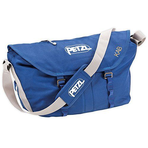 Petzl KAB Rope Bag - Blue  FEATURES of the Petzl Kab Rope Load Large volume for carrying a rope of up to 110 meters plus climbing equipment Stays upright when rope is being used Trapezoidal protective tarp is incorporated into the bag, supplying a tidy location of 140 x 140 x 50 cm for the rope Deals with on two corners of the tarp for saving the rope in the bag Equipment loops and pocket for secrets located inside the bag Pocket for a topo map easily accessible on the flap Opens and fastens…