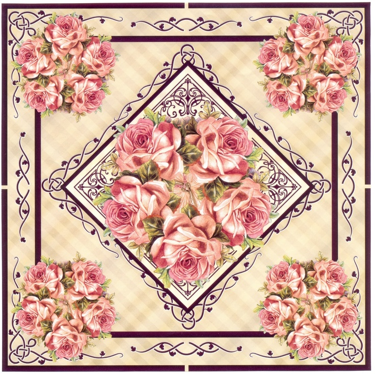 papeis+20024.jpg (1600×1595) - Beautiful framed and bordered roses - cut for card topper and inside card embelishments