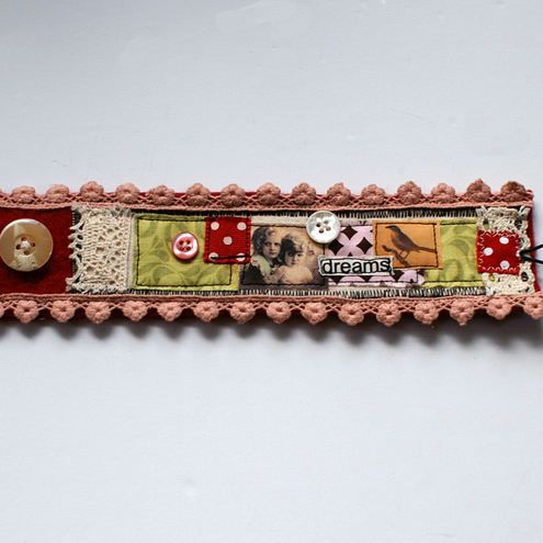 Fabric Cuff bracelet 10pounds via website