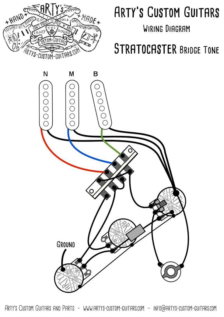 Arty's Custom Guitars Bridge Tone Vintage Pre-wired