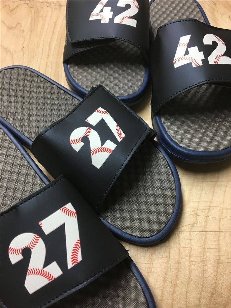 Custom baseball slides. Add your jersey number or graduation year. A great baseball team gift idea!